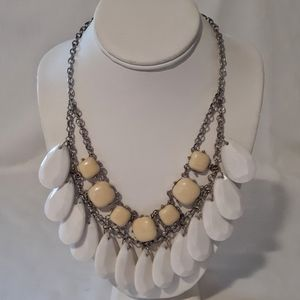 Chunky Bib Collar Necklace Facet Beads Bauble